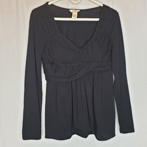 Sundance black long sleeve top small